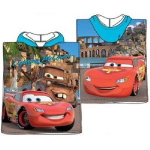 Disney Pixar Cars Mini Poncho Towel Blue